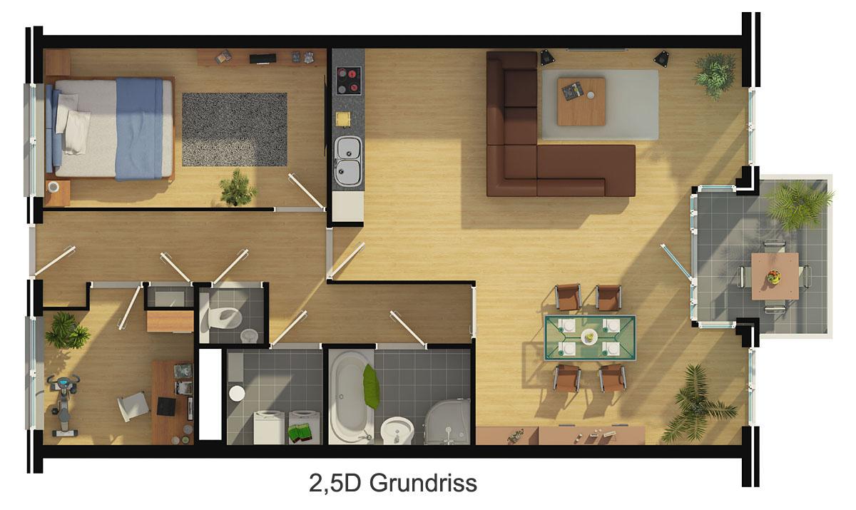 Grundriss Zeichnen Darstellung : Grundriss zeichnen Ihr Haus in 3D!  Beste Qualität zum besten Preis