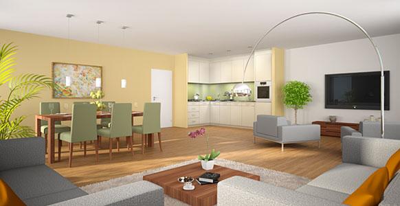 3D Visualisierung des Shop-Designs: Innenarchitektur, Interieur ...